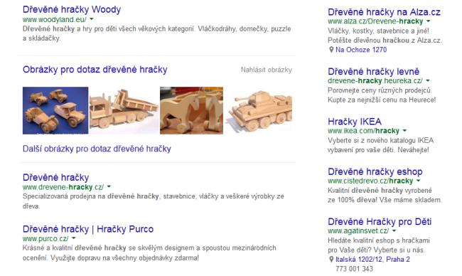 Dřevěné hračky ukázka vyhledávání